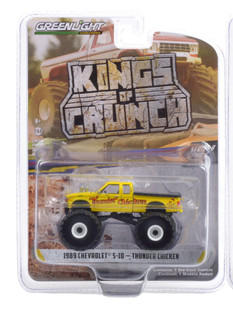 1989 Chevy S-10 Extended Cab Monster Truck - Thunder Chicken, Yellow - Greenlight 49090C/48 - 1/64 scale Diecast Model Toy Car