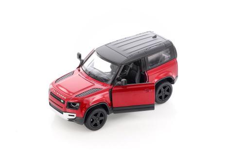 Land Rover Defender 90, Red - Kinsmart 5428D - 1/36 scale Diecast Model Toy Car