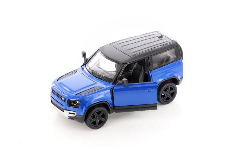 Land Rover Defender 90, Blue - Kinsmart 5428D - 1/36 scale Diecast Model Toy Car
