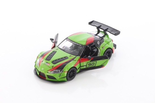 Toyota GR Supra Racing Concept Hardtop with Decals, Green - Kinsmart 5421DF - 1/36 scale Diecast Model Toy Car