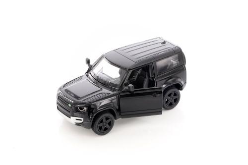 Land Rover Defender 90, Black - Kinsmart 5428D - 1/36 scale Diecast Model Toy Car