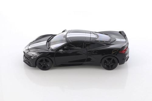 2020 Chevy Corvette Stingray Coupe Z51, Black - Showcasts 34527D4 - 1/24 scale Diecast Model Toy Car
