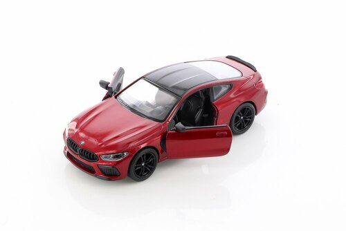 BMW M8 Competition Coupe, Red - Kinsmart 5425D - 1/38 scale Diecast Model Toy Car