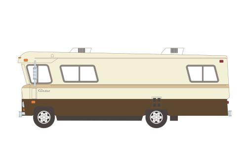 1972 Condor II RV, Beige/Tan and Brown - Greenlight 33200B/48 - 1/64 scale Diecast Model Toy Car