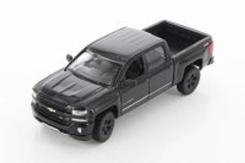 2017 Chevy Silverado Pickup, Black - Welly 24083/4D - 1/29 scale Diecast Model Toy Car