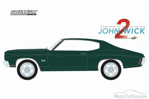 1970 Chevy Chevelle SS 396 (John Wick Ch 2), Green - Greenlight 44780F/48 - 1/64 Scale Diecast Model Toy Car