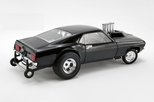 1969 Ford Mustang Gasser Show Stopper, Triple Gloss Black - GMP 18932B - 1/18 scale Diecast Model Toy Car