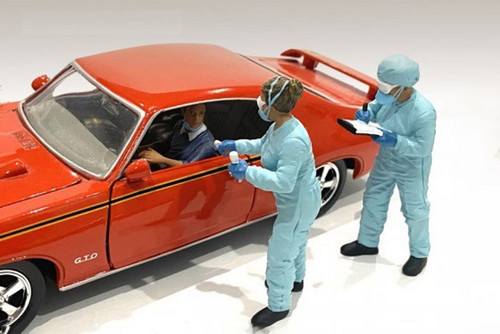 Hazmat Crew - Figure II, Blue - American Diorama 76368 - 1/24 scale Figurine - Diorama Accessory