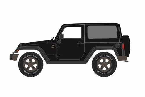 2016 Jeep Wrangler75th Anniversary Edition, Black - Greenlight 86187 - 1/43 scale Diecast Model Toy Car