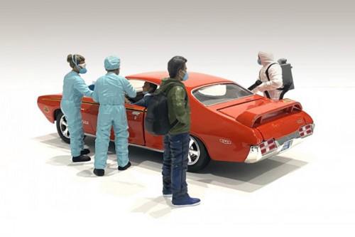 Hazmat Crew - Figure V, Blue and Green - American Diorama 76271 - 1/18 scale Figurine - Diorama Accessory