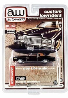 1975 Cadillac Eldorado, Black - Auto World CP7719 - 1/64 scale Diecast Model Toy Car