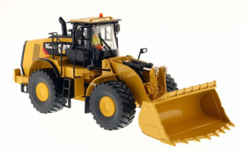 Caterpillar 980K Wheel Loader Rock Configuration with Operator, Yellow - Diecast Masters 85296 - 1/50 scale Diecast Vehicle Replica