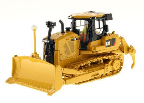 Caterpillar D7E Track Type Tractor with Electric Drive with Operator, Yellow - Diecast Masters 85224 - 1/50 scale Diecast Vehicle Replica