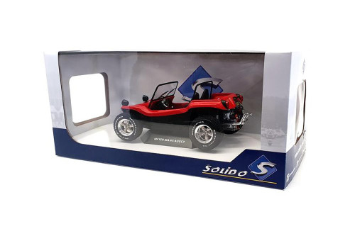 1968 Meyers Manx Dune Buggy, Red - Solido S1802704 - 1/18 scale Diecast Model Toy Car