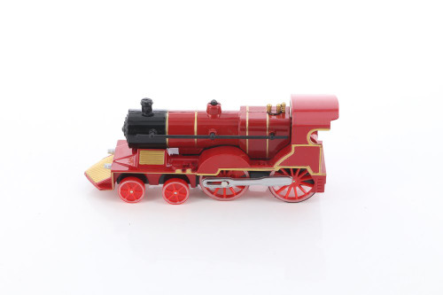 Classic Train with Sound and Lights, Red - ModelToyCars SL675DB - Diecast Toy Train