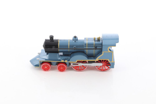 Classic Train with Sound and Lights, Blue - ModelToyCars SL675DB - Diecast Toy Train