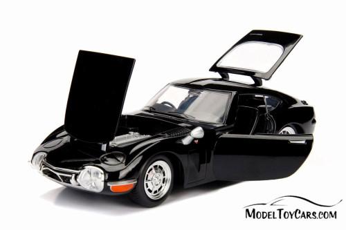 1967 Toyota 2000 GT Hard Top, Black - Jada 30447WA1 - 1/24 scale Diecast Model Toy Car