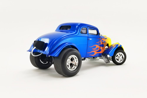 Flamed 1933 Gasser, Blue and yellow - Acme A1800918 - 1/18 scale Diecast Model Toy Car