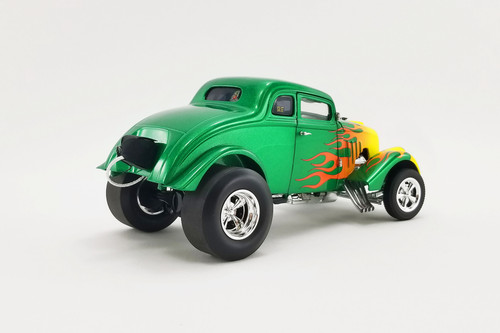 Rat Fink 1933 Willys Gasser, Green and Yellow - Acme A1800917 - 1/18 scale Diecast Model Toy Car