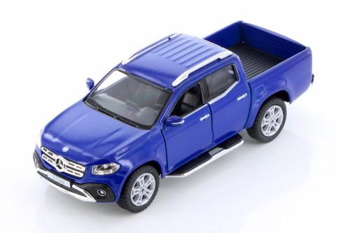 2017 Mercedes-Benz X-Class Double Cab Pickup Truck, Blue - Kinsmart 5410D - 1/42 scale Diecast Model Toy Car