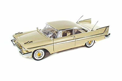 1958 Plymouth Fury, Yellow - Motor Max 73115AC/YL - 1/18 scale Diecast Model Toy Car