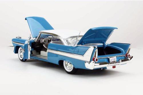 1958 Plymouth Fury, Light Blue - Motor Max 73115AC/BU - 1/18 scale Diecast Model Toy Car