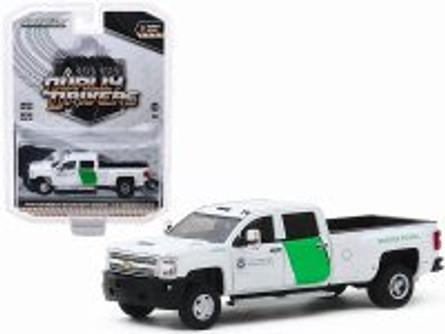 2018 Chevy Silverado 3500 Dually, U.S. Customs Border Patrol - Greenlight 46030B/48 - 1/64 scale Diecast Model Toy Car