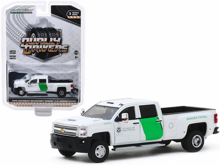 2018 Chevy Silverado 3500 Dually, U.S. Customs Border Patrol  - Greenlight 46030B/48 - 1/64 scale Diecast Model Toy Car