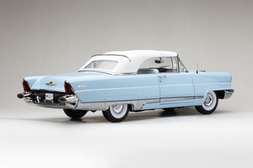 1956 Ford Lincoln Premiere Closed Convertible, Fairmount Blue and White - Sun Star 4721 - 1/18 scale Diecast Model Toy Car