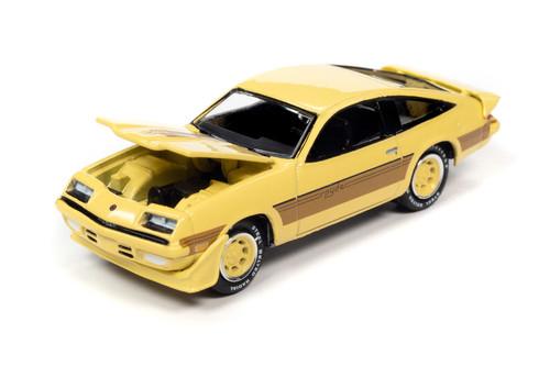 1980 Chevy Monza Spyder, Light Yellow - Johnny Lightning JLCG024/48B - 1/64 scale Diecast Model Toy Car
