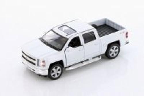 2014 Chevy Silverado, White - Kinsmart 5381DW - 1/46 scale Diecast Model Toy Car