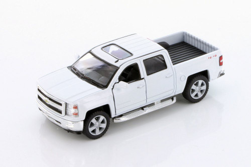 2014 Chevy Silverado, White - Kinsmart 5381DW - 1/46 scale Diecast Model Toy Car