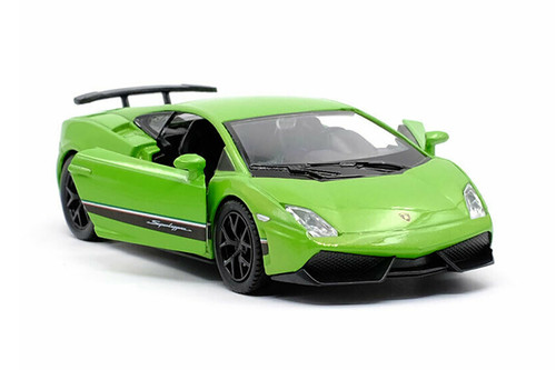 Lamborghini Gallardo Superleggera, Green and Black - Jada Toys 32717/4 - 1/24 scale Diecast Model Toy Car