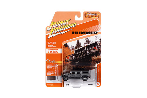 2006 Hummer H1 Alpha with Roof Rack, Charcoal Gray Metallic - Johnny Lightning JLCG024/48A - 1/64 scale Diecast Model Toy Car