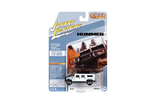 2006 Hummer H1 Alpha with Roof Rack, Bright White - Johnny Lightning JLCG024/48B - 1/64 scale Diecast Model Toy Car