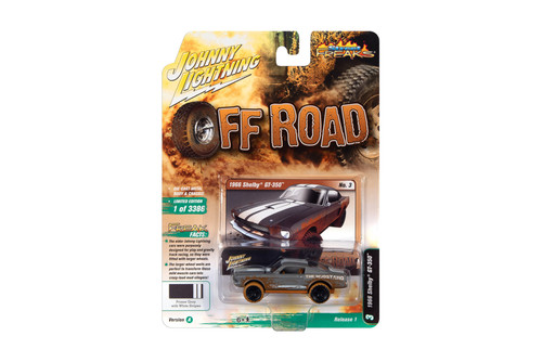 """1966 Ford Mustang Shelby GT-350 """"The Mudstang"""", Primer Gray (Dirty Version) - Johnny Lightning JLSF019/48A - 1/64 scale Diecast Model Toy Car"""