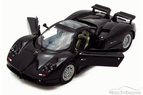 Pagani Zonda C12, Black - Motor Max 73272L - 1/24 Scale Diecast Model Toy Car