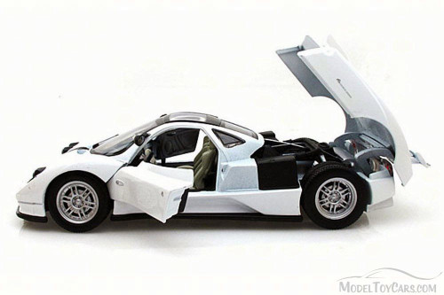 Pagani Zonda C12, White - Motor Max 73272L - 1/24 Scale Diecast Model Toy Car