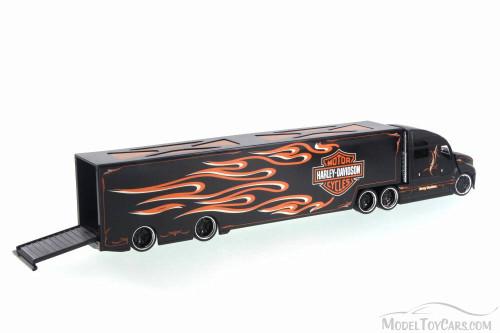 Harley Davidson Long Haulers, Black - Maisto 11516 - 1/64 Scale Diecast Model Toy Car