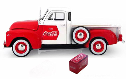 1953 Chevy Pick Up, White w/ Red - Motor City Classics 440664 - 1/32 Scale Diecast Model Toy Car