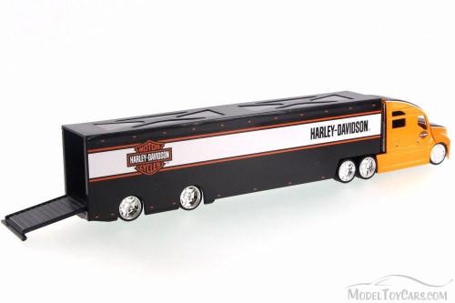 Harley Davidson Long Haulers, Orange - Maisto 11516 - 1/64 Scale Diecast Model Toy Car