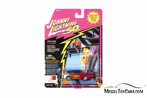George Barris Fireball 500, Metallic Red with Gold and White - Round 2 JLCG018/48B - 1/64 Scale Diecast Model Toy Car