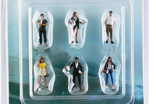 The Dealership Figure Set, Multi - American Diorama 76476MJ - 1/64 scale Figurine - Diorama Accessory
