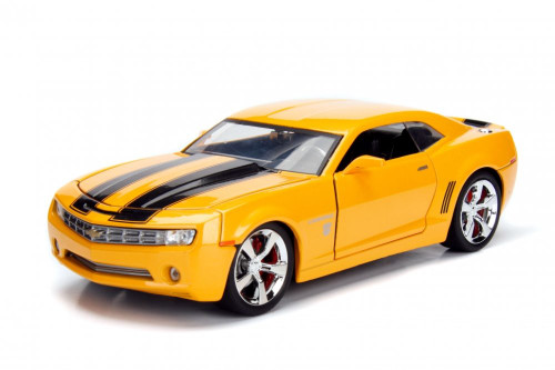 Chevy Camaro Concept Bumblebee with Collectible Coin, TRANSFORMERS 5 - Jada Toys 98497/4 - 1/24 scale Diecast Model Toy Car