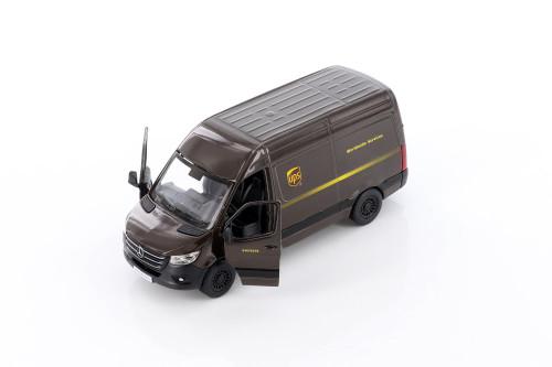 Mercedes-Benz Sprinter UPS Delivery Van, Brown - Kinsmart 5430D - 1/48 scale Diecast Model Toy Car