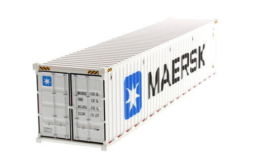 """40' Refrigerated Sea Shipping Container """"MAERSK"""", White - Diecast Masters 91028B - 1/50 scale Plastic Replica"""