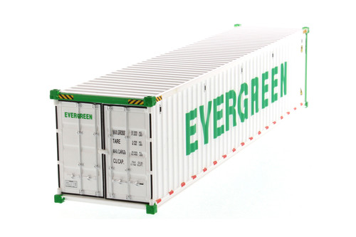 """40' Refrigerated Sea Shipping Container """"Evergreen"""", White - Diecast Masters 91028A - 1/50 scale Plastic Replica"""