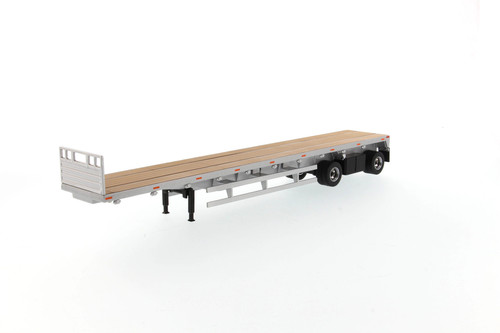 53' Flat Bed Trailer, Silver - Diecast Masters 91023 - 1/50 scale Diecast Replica