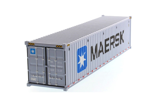 """40' Dry Goods Sea Shipping Container """"MAERSK"""", Gray - Diecast Masters 91027E - 1/50 scale Plastic Replica"""