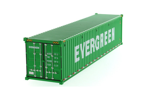 """40' Dry Goods Sea Shipping Container """"Evergreen"""", Green - Diecast Masters 91027D - 1/50 scale Plastic Replica"""